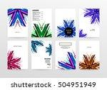 geometric background template... | Shutterstock .eps vector #504951949