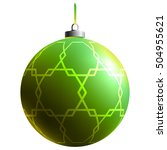colorful glass ball. bright... | Shutterstock .eps vector #504955621
