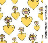 Heart And Eye Pattern