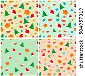 christmas seamless pattern.... | Shutterstock .eps vector #504957319