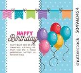 happy birthday invitation card | Shutterstock .eps vector #504960424