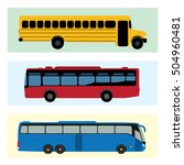 bus vector illustration set... | Shutterstock .eps vector #504960481