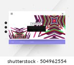 website template with geometric ... | Shutterstock .eps vector #504962554