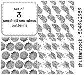 set of geometric seamless... | Shutterstock .eps vector #504962959
