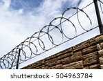 Razor And Barbed Wire With A...