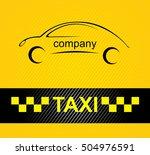 taxi card taxi driver sticker... | Shutterstock . vector #504976591