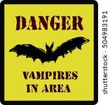 halloween danger road sign ...   Shutterstock .eps vector #504983191