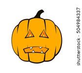 pumpkin for halloween isolated... | Shutterstock .eps vector #504984337