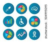 medicine icons. syringe ... | Shutterstock .eps vector #504995095