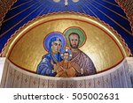 mosaics depicting the holy... | Shutterstock . vector #505002631