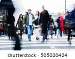 picture with motion blur of a... | Shutterstock . vector #505020424