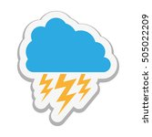 cloud with storm icon image  | Shutterstock .eps vector #505022209
