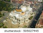 palace of fine arts  or palacio ...   Shutterstock . vector #505027945