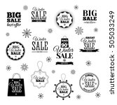 winter sale emblems  logotypes  ... | Shutterstock . vector #505033249