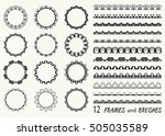 vector decorative doodle frames ...