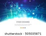 stock exchange concept  vector... | Shutterstock .eps vector #505035871