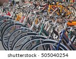 Parked Bicycles On A Bicycle...