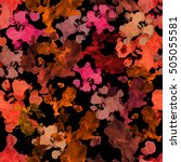 dark red orange paint splashes... | Shutterstock . vector #505055581