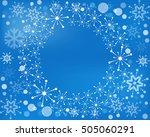 snowflake vector wreath... | Shutterstock .eps vector #505060291