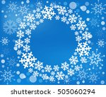 snowflake vector wreath... | Shutterstock .eps vector #505060294