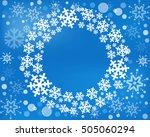 snowflake vector wreath... | Shutterstock .eps vector #505060294