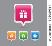 present or gift pin marker icons