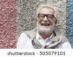 senior handsome man smiling... | Shutterstock . vector #505079101