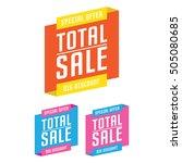 sale  discount  price cut... | Shutterstock .eps vector #505080685
