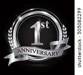 logo of the 1st anniversary... | Shutterstock .eps vector #505082299