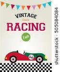 classic vintage racing car... | Shutterstock .eps vector #505084084