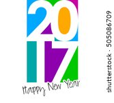 happy new year 2017 colorful... | Shutterstock .eps vector #505086709