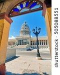 view of havana capitol building ... | Shutterstock . vector #505088551
