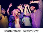 group of people dancing concept | Shutterstock . vector #505093999