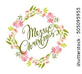 vector card. merry christmas.... | Shutterstock .eps vector #505095955