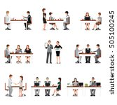 business people meeting... | Shutterstock .eps vector #505100245