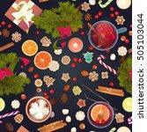 merry christmas seamless... | Shutterstock .eps vector #505103044