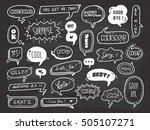 set of cute speech bubble with... | Shutterstock .eps vector #505107271