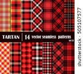 set tartan seamless pattern... | Shutterstock .eps vector #505107577