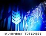 computer internet network... | Shutterstock . vector #505114891
