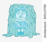 man get stuck in ice frozen... | Shutterstock .eps vector #505115785