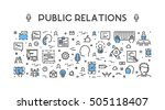 line web concept for public...   Shutterstock .eps vector #505118407