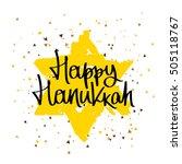 happy hanukkah. the trend... | Shutterstock .eps vector #505118767
