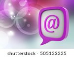 3d illustration of e mail icon... | Shutterstock . vector #505123225