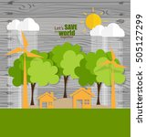 eco friendly. ecology concept... | Shutterstock .eps vector #505127299