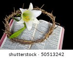 Crown Of Thorns With Easter Lily