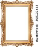 gold photo frame with corner... | Shutterstock .eps vector #505133665