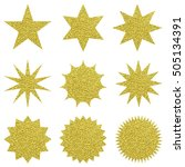 collection of trendy gold stars ... | Shutterstock .eps vector #505134391