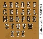 vintage grunge alphabet.... | Shutterstock .eps vector #505134961