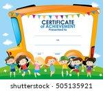 school bus certificate   Shutterstock .eps vector #505135921