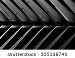 suspended lath ceiling. roof or ... | Shutterstock . vector #505138741